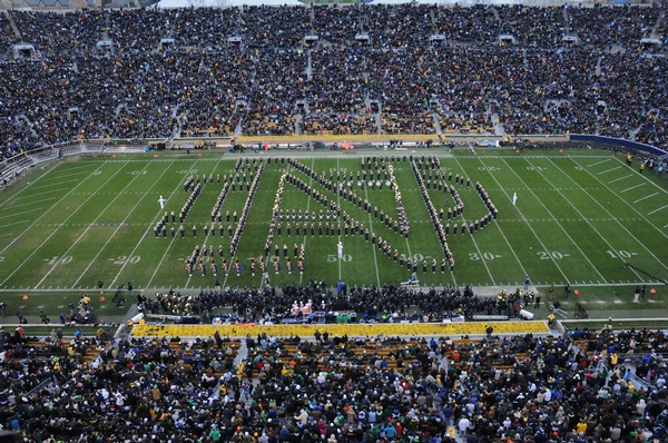 ND Band performs Monogram ND Formation