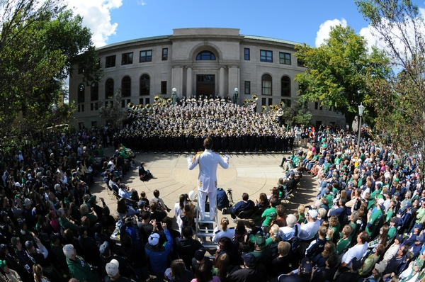 ND band performing its traditional Concert