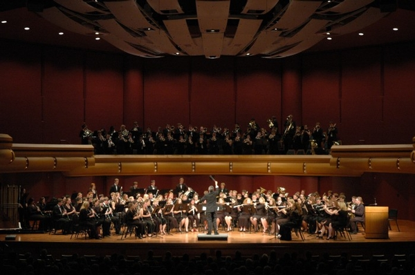 ND Concert Band performs at DeBartolo Performing Arts Center