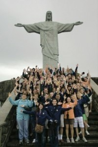 Band Members at the Corcvado in Rio de Janeiro