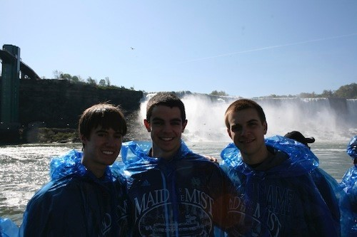 ND Band Members aboard the Maid of the Mist
