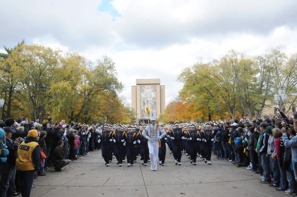 ND Band Marches to the Stadium