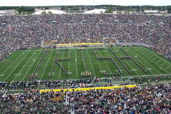Notre Dame Band spells Irish