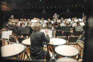 Timpanist's View of the Concert Band Performing