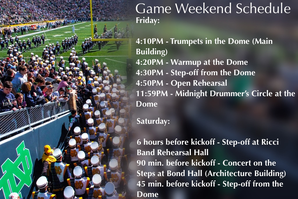 football game schedule notre dame football game score